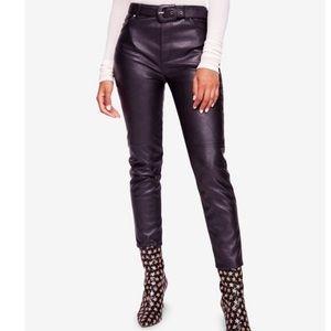 Free People Vegan Leather Cropped Pants